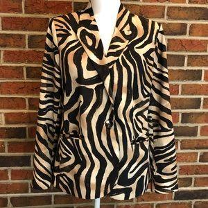 Chico's Zebra Print Blazer Size 1
